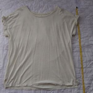 Eileen Fisher Scoop Neck Boxy Rolled Sleeve Tee M